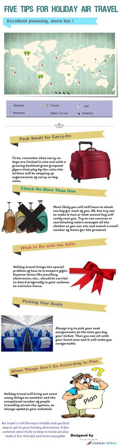 Five Tips for Holiday Air Travel Infographic Air Travel Tips, Travel News, Travel Packing, Smash Book, Dubai, Cities, Adventure Quotes, Adventure Time, Travel Quotes