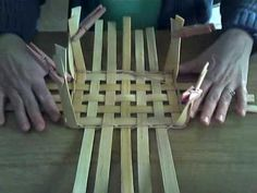 Basket Weaving Video - Upsetting sides of basket