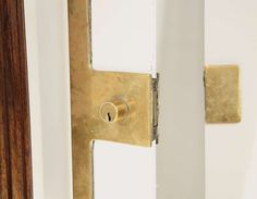 An Italian two sided brass door knob with  solid wooden grips. image 6