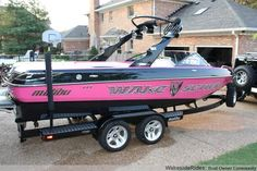 Pink Malibu Wakesetter? Yes please!  Make sure to check out our friends at http://www.talic.com for a wakeboard storage rack