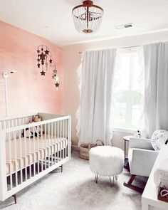 Bright, airy and oh-so-dreamy. ✨ Our eyes light up every time we see this wallpaper in a nursery! 📸: @ashley_ferder Pink Wallpaper Murals, More Wallpaper, Girl Nursery, Nursery Ideas, Room Inspiration, Cribs, Kids Room, Shabby Chic, Bright