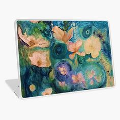 'Fantasy Flowers' Laptop Skin by Adele Buys Framed Prints, Canvas Prints, Art Prints, Get Free Stuff, Laptop Skin, Sell Your Art, Iphone Wallet, Art Boards, Iphone Case Covers