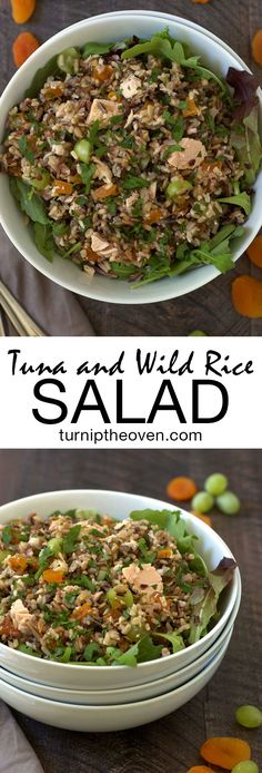 Tuna and Wild Rice Salad made with Bumble Bee Seafoods Tuna! Tuna and Wild Rice Salad made with Bumble Bee Seafoods Tuna! Tuna Fish Recipes, Seafood Recipes, Curry Recipes, Gluten Free Recipes For Lunch, Quick Dinner Recipes, Wow Recipe, Wild Rice Salad, Best Food Ever, Apricot Recipes