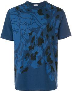 a7220cf9130fe Didi T-shirt met all over print kaki blauw