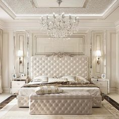 Luxury Bedroom Design Ideas That You Definitely Want For Your Dream Home 35 master bedroom design glamour 50 Luxury Bedroom Design Ideas that you Definitely want for your Dream Home - Home-dsgn Glam Bedroom, Home Decor Bedroom, Modern Bedroom, Bedroom Classic, Fancy Bedroom, Bedroom Furniture, Trendy Bedroom, Luxury Furniture, Queen Bedroom