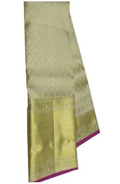 Off White Handloom Kanjeevaram Pure Silk Saree Banarasi Sarees, Pure Silk Sarees, Sarees Online, Off White, Pure Products, Stuff To Buy, Black, Black People