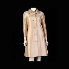 Vintage Dress 60s Gold Pat Sandler Mod Dress and Coat
