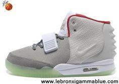 Wholesale Cheap Gray Red Nike Air Yeezy II Men Shoes Shoes Shop