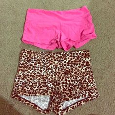 Pink and cheetah shorts Cute shorts. Only have worn to sleep. Are super comfortable and cute. Both were $10 but can do both for $15 Wet Seal Other