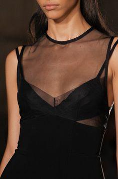 Victoria Beckham at New York Fashion Week Spring 2013 - Black Organza New York Fashion, Runway Fashion, High Fashion, Womens Fashion, Mode Style, Style Me, Organza, Fashion Details, Fashion Design