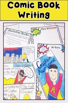 Comic Book Writing has templates and practice sheets for brainstorming, formulating characters, creating a setting, using quotation marks and more!  All for a fun and interactive writing lesson! Includes templates to turn rough drafts into an awesome comic book!