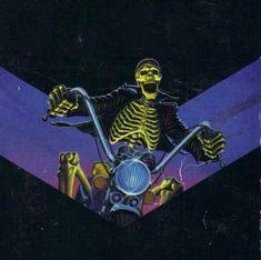 Uploaded by veri. Find images and videos about skeleton on We Heart It - the app to get lost in what you love. Dark Fantasy Art, Dark Art, Horror Artwork, Arte Horror, Vintage Horror, Pulp Art, Retro Futurism, Retro Art, Halloween Art