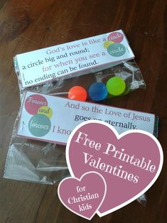 Free printable Valentines for Christian Kids  - great for Sunday School or church!