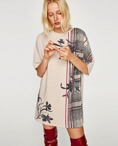 RUBBERIZED DRESS WITH SHORT SLEEVES-View all-DRESSES-WOMAN | ZARA United States