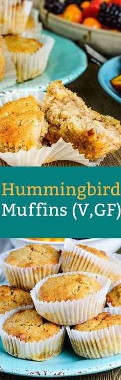 Hummingbird Muffins (Vegan, Gluten-Free)