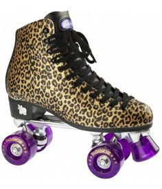 Rookie Classic Rollerskates - Gold Leopard