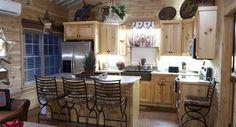 Morton Buildings cabin interior in McKinney, Texas.