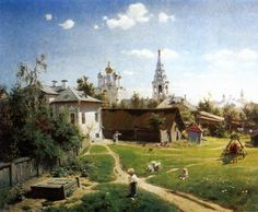 POLENOV, Vasily Dmitrievich A Yard in Moscow 1878 Oil on canvas, 65 x 80 cm State Tretyakov Gallery, Moscow