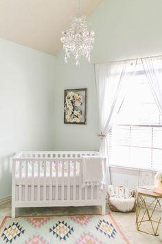 Ideas Baby Nursery Ideas Mint Paint Colors For 2019 Mint Paint Colors, Nursery Paint Colors, Pastel Nursery, Mint Nursery, Baby Nursery Themes, Boho Nursery, Baby Room Decor, Nursery Room, Room Colors