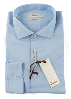 Classic dressy, in this Ingram solid blue slim fit woven cotton dress shirt.     Find yours! http://www.frieschskys.com/all-shirts/dress-shirts     #frieschskys #mensfashion #fashion #mensstyle #style #moda #menswear #dapper #stylish #MadeInItaly #Italy #couture #highfashion #designer #shopping