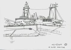 Urban Sketchers Paris: Au bord de l'Océan