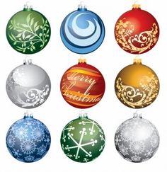 Christmas Ornament Balls Vector Set