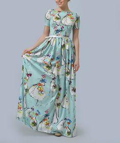 2365bc4d6c Love this Mint  amp  White Girl Silk Maxi Dress  amp  Belt - Plus Too