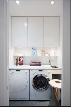 47 Top Cozy Small Laundry Room Design Ideas - About-Ruth Modern Laundry Rooms, Laundry Room Layouts, Laundry Room Cabinets, Laundry Closet, Laundry Room Storage, Laundry In Bathroom, European Laundry, Ikea Algot, Laundry Room Inspiration