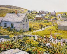 Monhegan Village by Edward Redfield | Art Posters & Prints