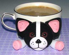 Sottobicchieri per bevande rosa piccolo elefante di QuillingLife