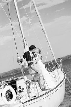Wedding portrait. Anything by the water or on a boat!