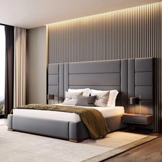 Contemporary bedroom interior design that very cozy 04 Room Design Bedroom, Luxury Bedroom Design, Bedroom Furniture Design, Home Bedroom, Bed Headboard Design, Bed With Headboard, Modern Luxury Bedroom, Bedroom Ceiling, Master Bedrooms