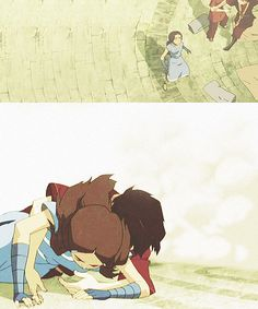 Katara: What are you doing?!Zuko: Keeping rocks from crushing you.Katara: Okay, I'm not crushed. You can get off me now.