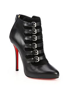 Christian Louboutin - Attroupa Leather Buckled Ankle Boots