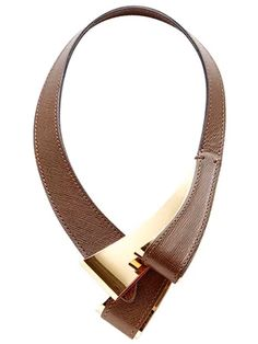 Consuelo Castiglioni designs yet another jaw-dropping brown leather necklace for Marni. She does it again and again.