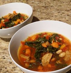 Winter stew with vegetarian sausage, white beans, and kale