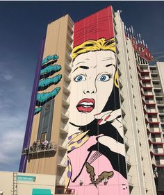 Art by DFACE on the Plaza Hotel in Las Vegas