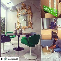 Regram of @sazelijalal's home in Singapore featuring Little Tulip chairs designed by Pierre Paulin for Artifort. #Artifort #PierrePaulin #littletulip #Singapore #design #interior