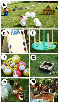 DIY Outdoor Games for Kids - Fun ideas and activities for young kids and teens to get them outside! The best boredom busters around! Backyard Party Games, Outdoor Party Games, Adult Party Games, Birthday Party Games, Adult Games, Graduation Party Games, Outdoor Parties, Backyard Ideas, Outdoor Activities For Adults