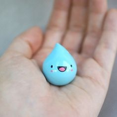 Itty Bitty Raindrop Figurine #cute #handmade #rain - only $7.00