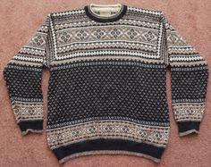 EUC Intiwara 100% ALPACA Wool Fair Isle Sweater Crew Neck Men's MEDIUM Bolivia #Intiwara #Crewneck
