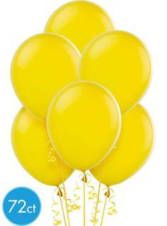 Sunburst Yellow Latex Balloons 12in 72ct - Party City