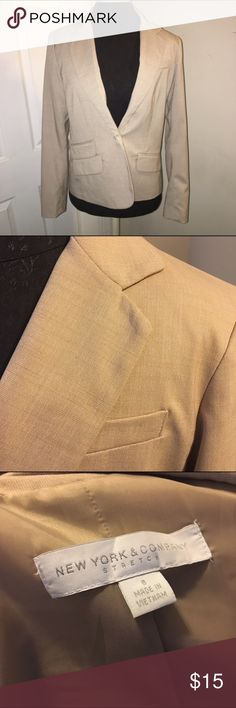 New York & Co size 8 tan suit blazer New York & Co size 8 tan suit blazer 🎉Bundle deals available (I carry various sizes and brands): 2 items 10% off, 3 items 15% off, 4 items or more 20% off 🎉 New York & Company Jackets & Coats Blazers
