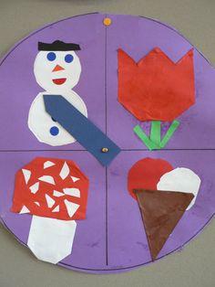 seizoensklok - makkelijk voor de kindjes zodat ze weten welk seizoen we zijn Weather Crafts, Ways Of Learning, My Children, Alice In Wonderland, Crafts For Kids, Kids Rugs, Seasons, Holiday Decor, Projects
