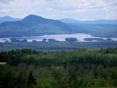 scenic view at rest area near Jackman, Maine