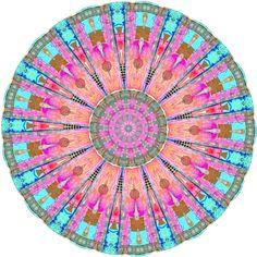 Bohemian Spirit Peace Mandala  Art Print
