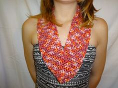 Shimmery Cotton Crochet Cowl on Etsy, $10.00 CAD