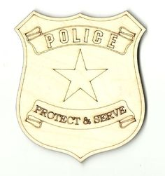Wooden Pieces 71178: Police Badge - Unfinished Laser Cut Out Wood Shape Craft Supply Bdg4 -> BUY IT NOW ONLY: $30.52 on eBay!