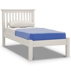 Barcelona Bed Frame Off White Low Foot End