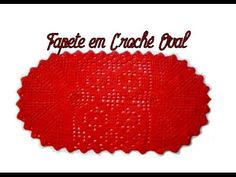TAPETE EM CROCHÊ OVAL-PARTE I Crochet Videos, Free Pattern, Coasters, Crochet Hats, Rugs, Knitting, Diy, Facebook, Crochet Carpet